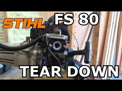 Stihl FS80 Carburetor removal for rebuild and ultrasonic cleaning