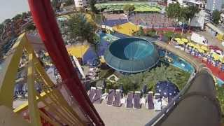Space Bowl la Aqua Magic in Mamaia/Constanta (filmare interior - exterior/onride - offride)