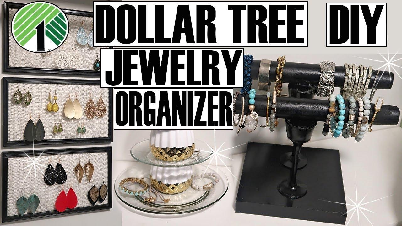 Dollar Tree Jewelry Organizer Diy Youtube