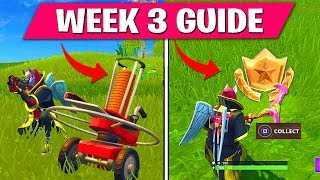 Fortnite WEEK 3 CHALLENGES GUIDE! – Follow the treasure map found in Flush Factory and Clay Pigeon