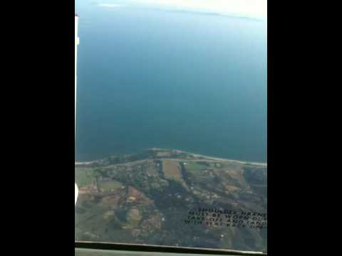 Flying over Santa Barbara