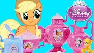Disney Princess Royal Tea Party Set with My Little Pony and Play doh --- Toy Unboxing