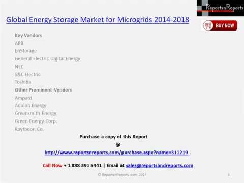 Worldwide Energy Storage Market for Microgrids Research Analysis to 2018