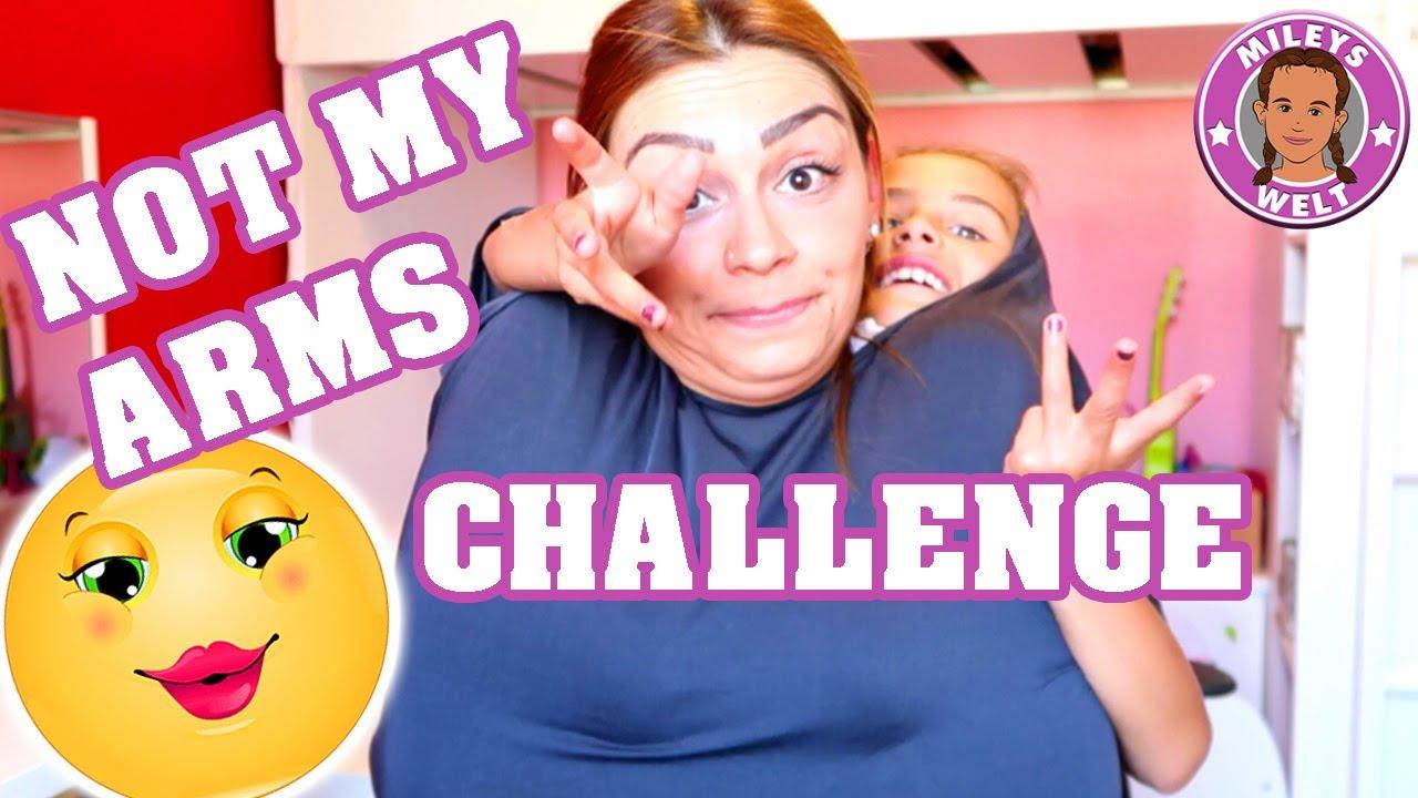 NOT MY ARMS CHALLENGE SCHMINKEN | MILEYS WELT - YouTube