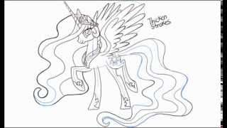 How to Draw Princess Celestia from My Little Pony Friendship is Magic