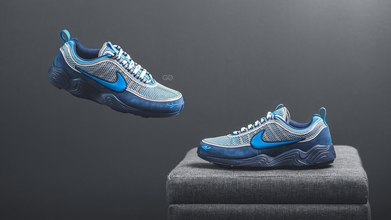 reputable site 6e736 cc1b6 Review  On-Feet Stash x Nike Air Zoom Spiridon 16
