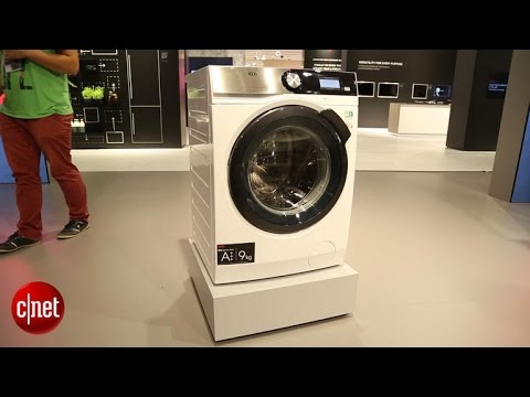 AEG's 9000 Series washer softens water to preserve your clothing