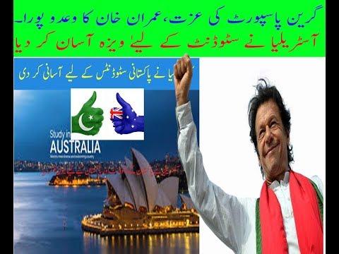 Pakistani Student Visa For Australian Has Been Relaxed- Thanks Imran Khan