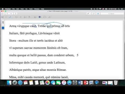 Aeneid 1.1-3 translation
