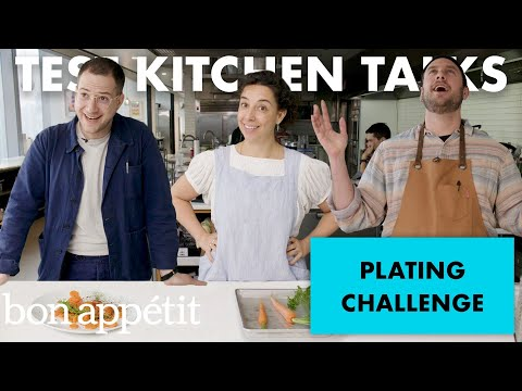Professional Chefs Challenged to Plate a Carrot in 1 Minute | Test Kitchen Talks | Bon Appétit