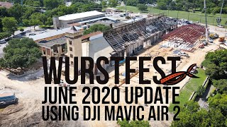 Wurstfest Construction Update - June 2020 (DJI Mavic Air 2 in New Braunfels)
