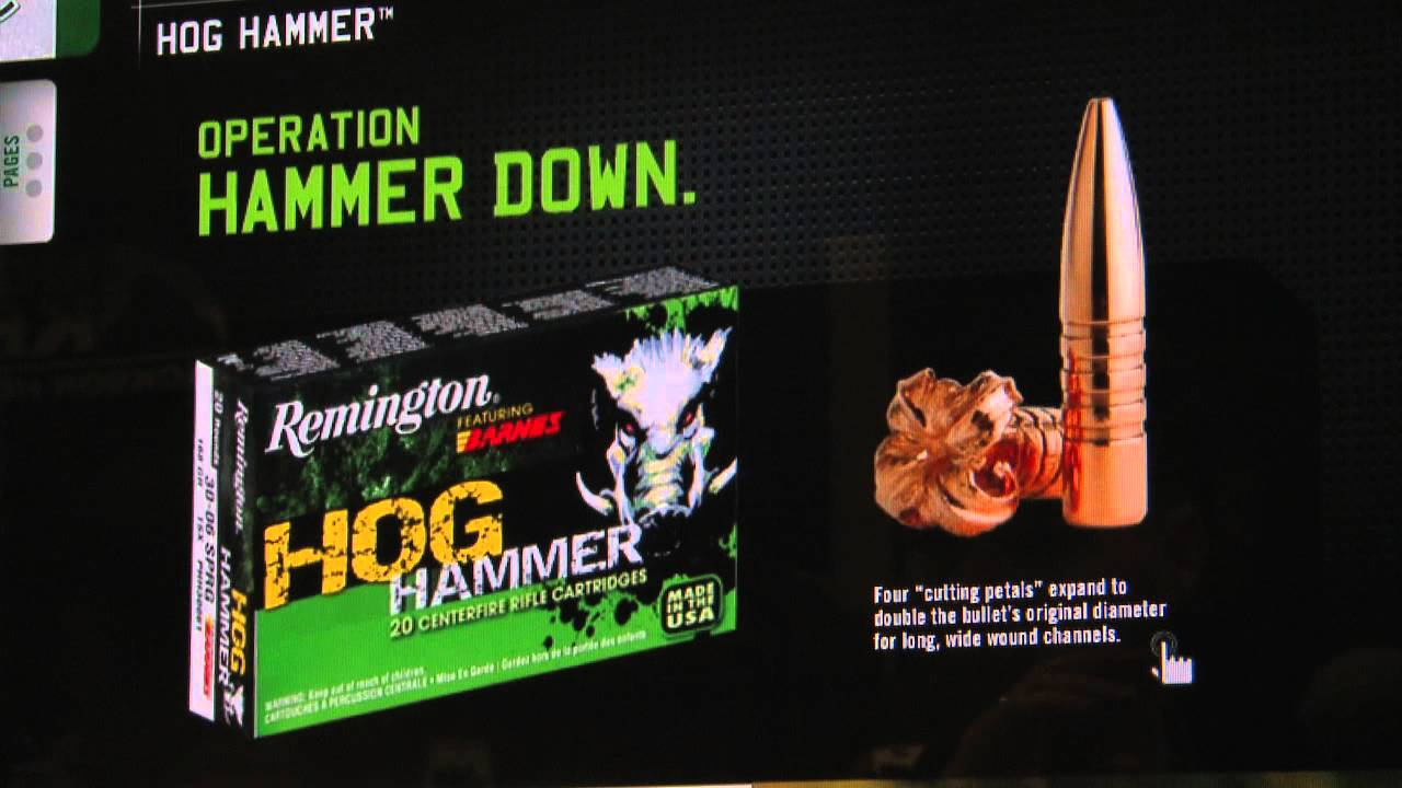 Remington Hog Hammer Hypersonic Ammunition Shot Show 2013 Luke