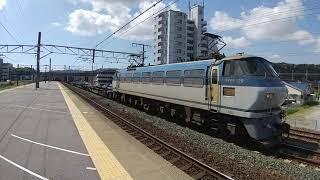 313系(上り)幸田駅出発&EF66牽引貨物列車(下り)幸田駅サービス警笛2発到着