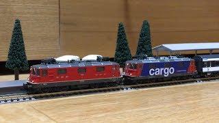 FLEISCHMANN SBB Re420 und Re421 (Re4/4II) Der Testbetrieb Modellbahn Spur N DCC-Sound