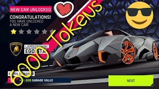 Asphalt 9 - Unlocking Lamborghini Egoista ???? (8 × 750 tokens pack) & Test Drive in Unleashed Event