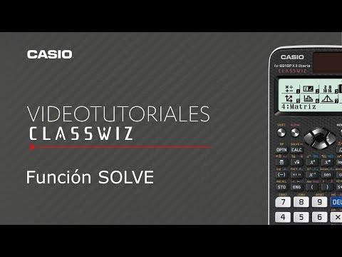 Calculadora CASIO ClassWiz: Función SOLVE