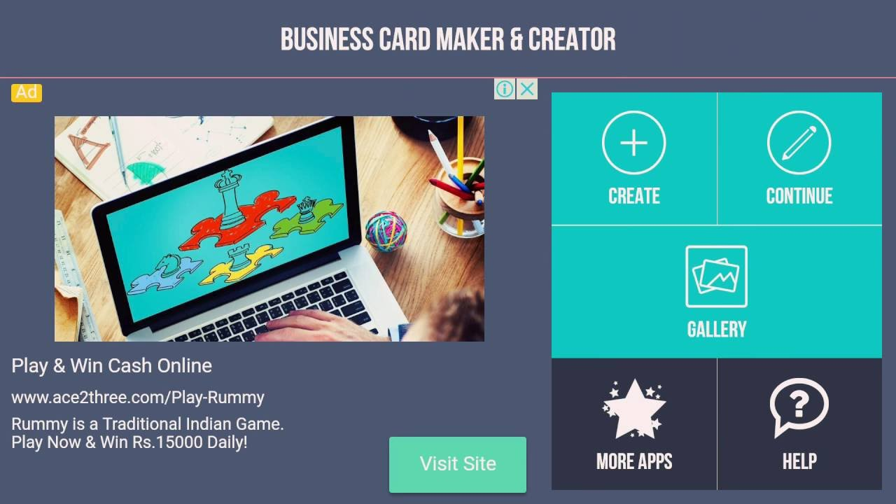 Business card maker & creator - YouTube