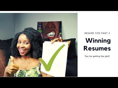 Resume Tips For Getting Hospital Job Part 3: Winning Resume