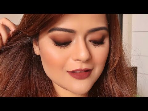 Brown Smudged Eyeliner Smokey Eye Look | Beginners Tutorial