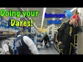 DOING YOUR DARES IN WALMART | INTERCOM PRANK | *KICKED OUT* | ASSAULTED BY CRAZY GUY!!!