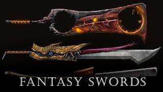 Drawing fantasy game swords - full process