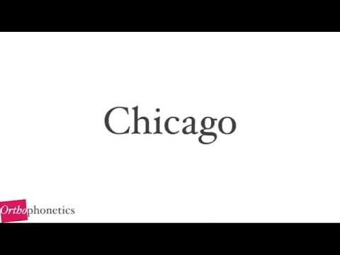 How to pronounce Chicago