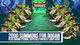 Idle Heroes - 2000 Summons for Rogan and Eternal Crystals