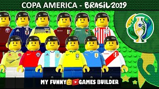 Copa America 2019 • Preview Brasil 2019 in Lego Football Film Animation (Brazil 2019)