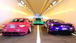 INSANE Straight Pipes Rev Battle! 458 Speciale, Granturismo, Panamera Turbo