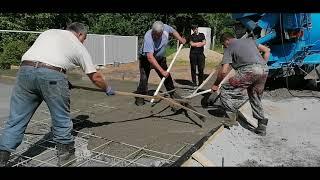 Часть 9. Строим гараж с навесом 5,5 * 7 .СВОИМИ РУКАМИ. Залили монолитную плиту.