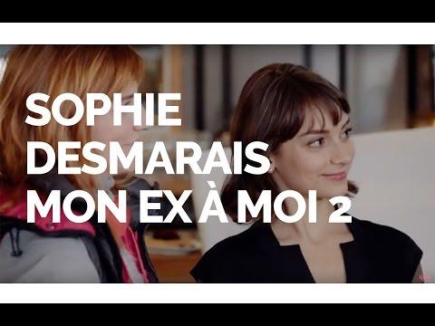 Sophie Desmarais  sur le plateau de tournage de  Mon Ex à moi, saison 2  Tapis rose
