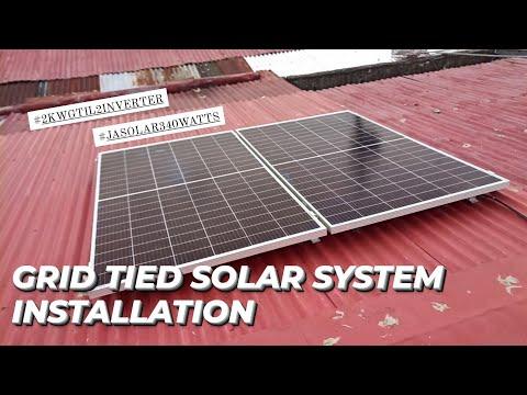 GRID TIED SOLAR SYSTEM INSTALLATION