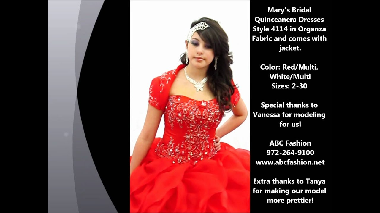 4114 Mary's Bridal Quinceanera Dress By Www.abcfashion.net