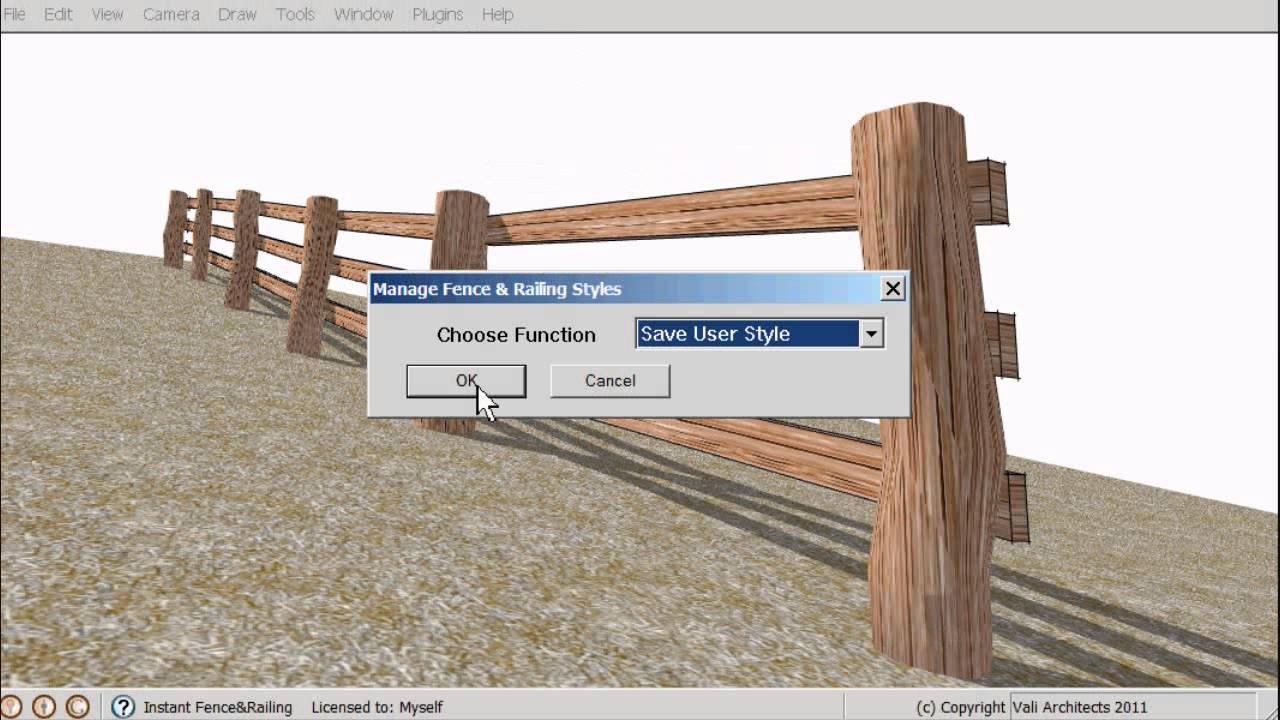 SketchUp Instant Fence and Railing Plugin - Vali Architects