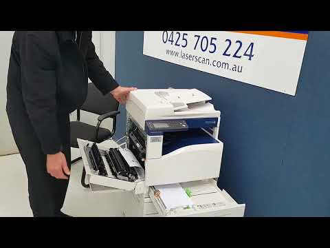 How to clear a paper jam in side of a Fuji Xerox DocuCentre