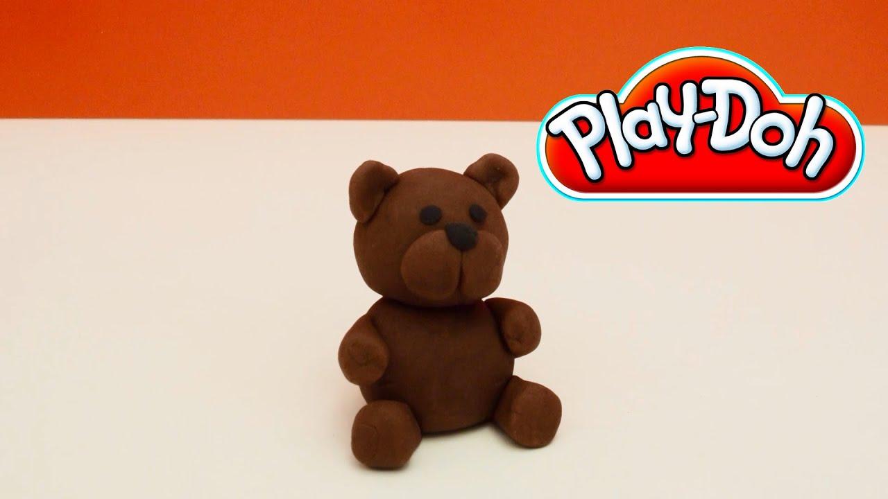 Play Doh Brown Bear How To Make A Cute Play Doh Bear