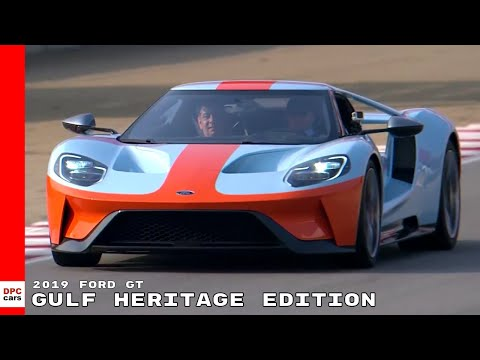 2019 Ford GT Gulf Heritage Edition On Race Track