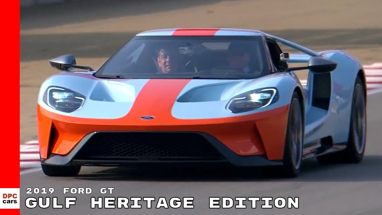 Ford Gt Gulf Heritage Edition On Race Track