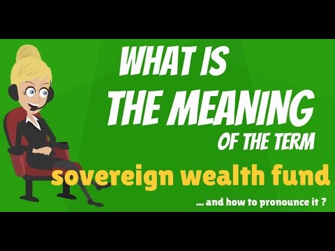 What is SOVEREIGN WEALTH FUND? What does SOVEREIGN WEALTH FUND mean?