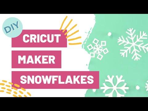 DIY Cricut Maker Snowflakes! ❄️