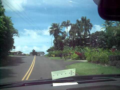 Driving out of Maunawili,Kailua,Oahu,Hawaii,96734