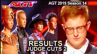 RESULTS JUDGE CUTS Week 2 Who Advanced to Live Show? America's Got Talent 2019 Judge Cuts AGT