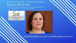 Explainer Video Voice Over Demo - Laila Berzins