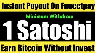 New Free Bitcoin Btc Earning Site 2020 Without Invest   Instant Withdraw on Faucetpay Earn Btc Daily