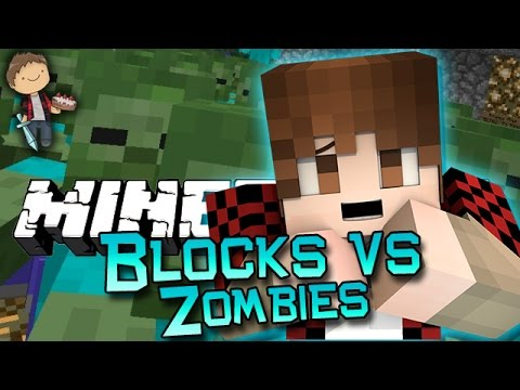 Minecraft: Blocks vs Zombies! Mini-Game w/Mitch & Friends! (Vanilla Command Block Mini-Game!) - TheBajanCanadian  - 5lSkx7k8Hss -