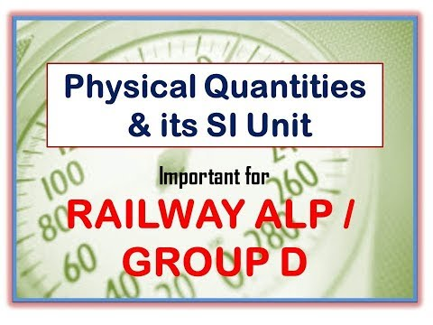 SI UNIT of Physical Quantities I SSC MTS 2017