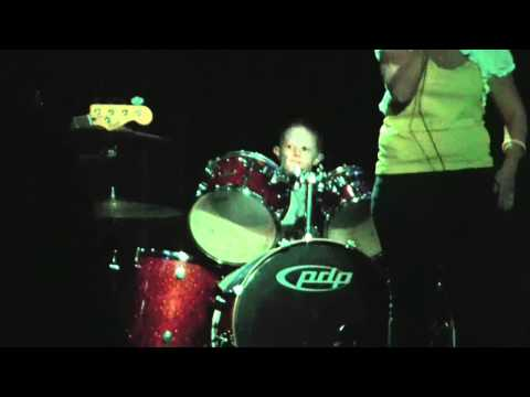 Drummer Aaron Barber age 7