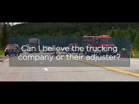 Can I believe the trucking company or their adjuster? | Craig, Kelley, & Faultless