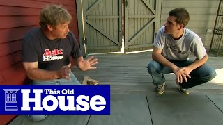 How to Repair an Uneven Bluestone Patio   This Old House