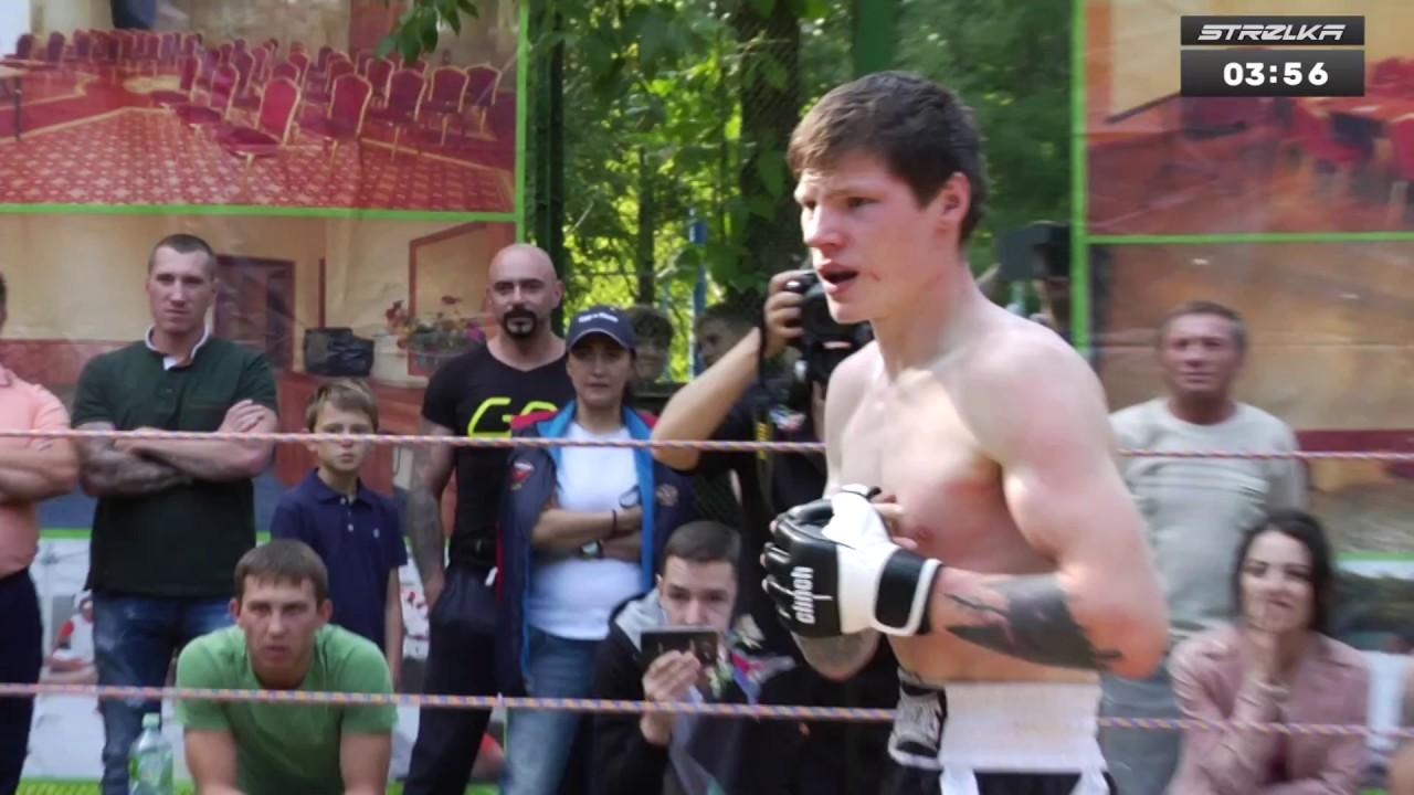 Дагестанский Борец против Боксера новичка, Бой ММА!!